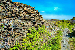 Easdale Island, the smallest permanently-inhabited island of the Inner Hebrides, Scotland.  The historical remains of what was once the centre of the Scottish slate mining industry.<br /> <br /> (c) Andrew Wilson | Edinburgh Elite media
