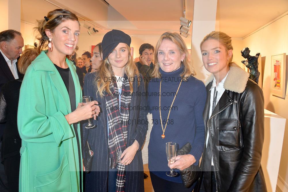 Left to right,  artist GEORGIANA ANSTRUTHER, CRESSIDA BONAS, LADY MARY-GAYE CURZON and ISABELLA BRANSON at a private view entitled Stop Making Sense featuring work by Georgiana Anstruther and Carol Corell held at Lacey Contemporary, 8 Clarendon Cross, London on 9th March 2016.