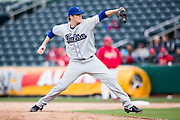 Dan Houston #23 of the Tulsa Drillers delivers a pitch during a game against the Springfield Cardinals at Hammons Field on May 4, 2013 in Springfield, Missouri. (David Welker/Four Seam Images)