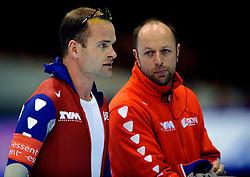 24-02-2008 SCHAATSEN: FINALE ISU WORLD CUP: HEERENVEEN<br /> Erben Wennemars en Gerard Kemkers<br /> ©2008-WWW.FOTOHOOGENDOORN.NL