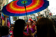 Thousands of people took to the streets of Istanbul for the 5th annual Trans Pride Parade. The parade began at Taksim Square and saw members of the lesbian, gay, bisexual, transvestite and transsexual communities march along Istiklal Street Istanbul Turkey