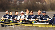Putney, London, ENGLAND, 28.03.2006, Oxford training outing lef to right,Bow Robin Esjmond-Frey, 2. Colin Smith, 3 Tom Parker, 4. Paul Daniels. 5. Jamie Schroeder, 6. Barney Williams, 7 Jake Wetzel, Stroke Bastien Ripoll,  Seb Pearce 2006, Boat Race, Varsity, Tideway Week, Tuesday,  © Peter Spurrier/Intersport-images.com.[Mandatory Credit Peter Spurrier/ Intersport Images] Varsity, Boat race. Rowing Course: River Thames, Championship course, Putney to Mortlake 4.25 Miles