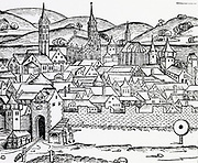 View Wurzburg, Germany. From 'Liber chronicarum mundi' 1493.