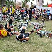 El Tour de Tucson 2012 finishers resting in Armory Park. Bike-tography by Martha Retallick.