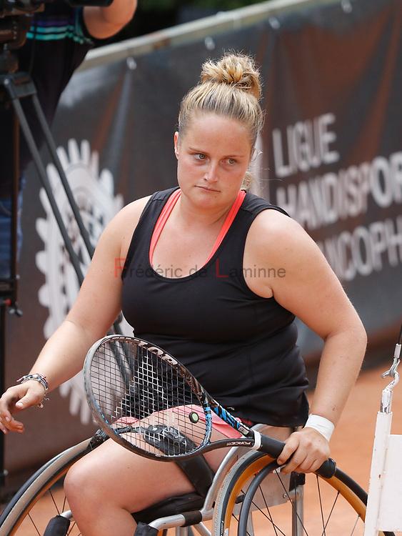 20170730 - Namur, Belgium : Aniek Van Koot (NED)?ooks sad during her finale against Yui Kamiji (JPN) at the 30th Belgian Open Wheelchair tennis tournament on 30/07/2017 in Namur (TC Géronsart). © Frédéric de Laminne