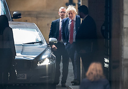 © Licensed to London News Pictures. 22/01/2020. London, UK. Prime Minister Boris Johnson arrives at Parliament ahead of Prime Minister's Questions. Photo credit: Peter Macdiarmid/LNP