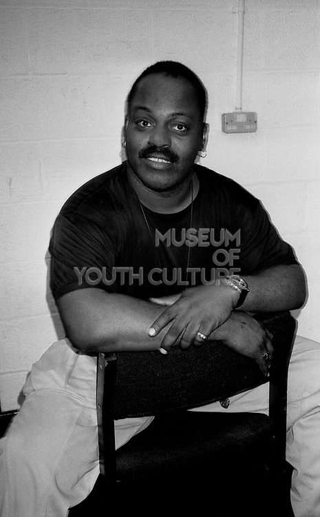 DJ Frankie Knuckles takes a break before his set at the Hacienda, Manchester 1989