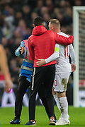Pitch invasion to get to Wayne Rooney (England) during the international Friendly match between England and USA at Wembley Stadium, London, England on 15 November 2018.