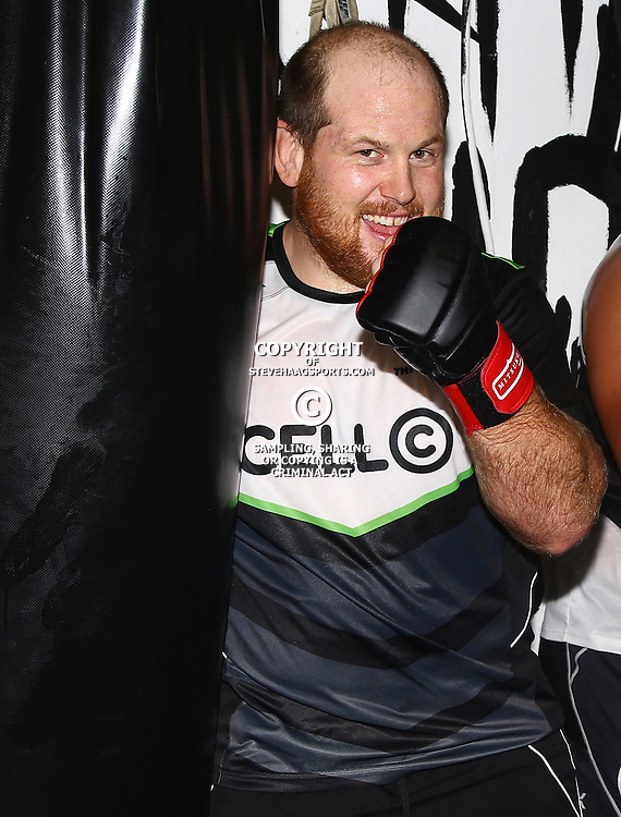 DURBAN, SOUTH AFRICA - JANUARY 16: Lourens Adriaanse during the Cell C Sharks boxing session at Domination on January 16, 2017 in Durban, South Africa. (Photo by Steve Haag/Gallo Images)