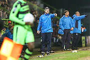 Forest Green Rovers assistant manager, Scott Lindsey during the Vanarama National League match between Forest Green Rovers and Tranmere Rovers at the New Lawn, Forest Green, United Kingdom on 22 November 2016. Photo by Shane Healey.