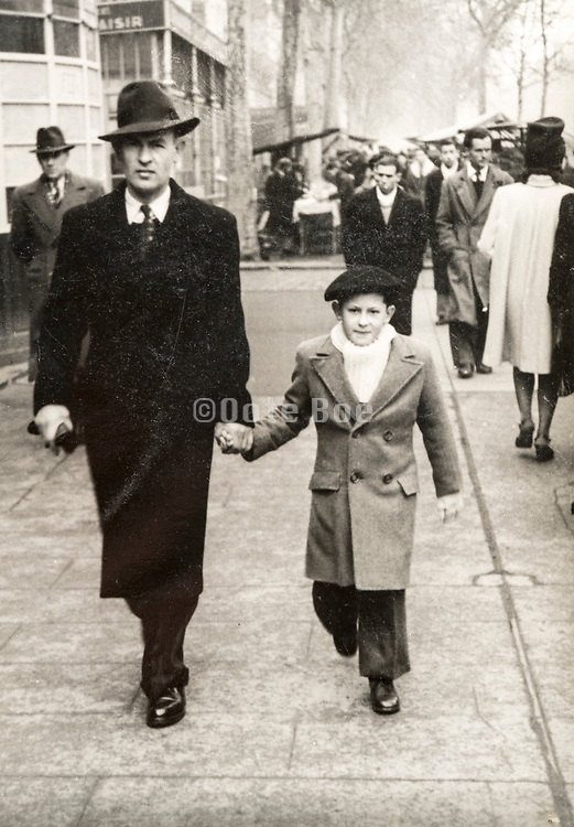 father with son France ca 1950s