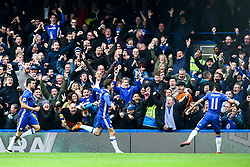 Goal, Marcos Alonso of Chelsea scores, Chelsea 1-0 Arsenal - Mandatory by-line: Jason Brown/JMP - 04/01/2017 - FOOTBALL - Stamford Bridge - London, England - Chelsea v Arsenal - Premier League