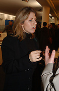 Cathy de Moncheaux. Art 2003 London Art Fair opening. Business Design Centre.  14 January 2003. © Copyright Photograph by Dafydd Jones 66 Stockwell Park Rd. London SW9 0DA Tel 020 7733 0108 www.dafjones.com