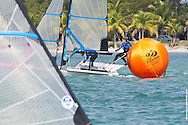 MIAMI, February 2, 2013 - Soffiatti leads around the mark at the 2013 ISAF World Sailing Cup in Miami.