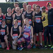 Baroness Doreen Lawrence & Stephen's Team at London Marathon 2018 on 22 April 2018, Blackhealth, London, UK.