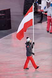 09.02.2018, Olympic Stadium, Pyeongchang, KOR, PyeongChang 2018, Eröffnungsfeier, im Bild Anna Veith (AUT) // Anna Veith of Austria during the Opening Ceremony of the Pyeongchang 2018 Winter Olympic Games at the Olympic Stadium in Pyeongchang, South Korea on 2018/02/09. EXPA Pictures © 2018, PhotoCredit: EXPA/ Johann Groder