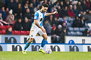 Blackburn Rovers defender Derrick Williams in possession of the ball during the EFL Sky Bet Championship match between Blackburn Rovers and Birmingham City at Ewood Park, Blackburn, England on 26 December 2019.