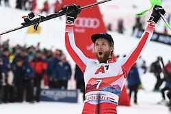 26.01.2020, Streif, Kitzbühel, AUT, FIS Weltcup Ski Alpin, Slalom, Herren, Siegerehrung, im Bild Marco Schwarz (AUT) zweiter Platz // Marco Schwarz of Austria second Place during the winner ceremony for the men's Slalom of FIS Ski Alpine World Cup at the Streif in Kitzbühel, Austria on 2020/01/26. EXPA Pictures © 2020, PhotoCredit: EXPA/ Erich Spiess