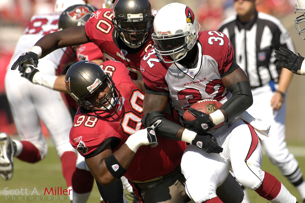 Nov. 4, 2007; Tampa, FL, USA; Arizona Cardinals  running back (32) Edgerrin James in action during the Cardinals 17-10 loss to the Tampa Bay Buccaneers at Raymond James Stadium. ...©2007 Scott A. Miller