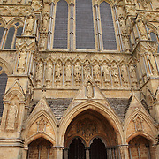 Salisbury Cathedral Facade - Salisbury, UK