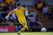 SYDNEY, NSW - FEBRUARY 28: Korean player Gaae Kang (1) kicks the ball at The Cup of Nations womens soccer match between Argentina and Korea Republic on February 28, 2019 at Leichhardt Oval, NSW. (Photo by Speed Media/Icon Sportswire)