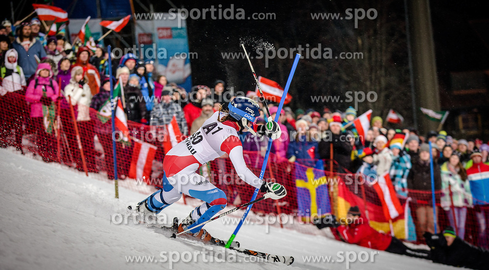 14.01.2014, Hermann Maier Weltcupstrecke, Flachau, AUT, FIS Weltcup Ski Alpin, Slalom, Damen, 2. Durchgang, im Bild Michelle Gisin (SUI) // Michelle Gisin of Switzerland  in action during 2nd run of the ladies Slalom of the FIS Ski Alpine World Cup at the Hermann Maier World Cup course in Flachau, Austria on 2014/01/14. EXPA Pictures © 2013, PhotoCredit: EXPA/ Johann Groder