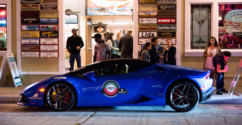Exotics on the Row and the informal cruising after, nightlife on Cannery Row during Monterey Car Week