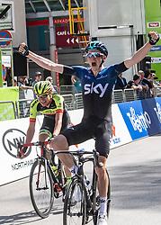 22.04.2019, Kufstein, AUT, Tour of the Alps, 1. Etappe, Kufstein - Kufstein, 144km, im Bild // Tao Geoghegan Hart (GBR, Team Sky) Stage Winner during the 1st Stage of the Tour of the Alps Cyling Race from Kufstein to Kufstein (144km) in in Kufstein, Austria on 2019/04/22. EXPA Pictures © 2019, PhotoCredit: EXPA/ Reinhard Eisenbauer