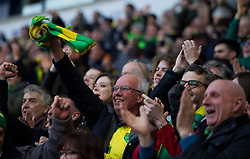 Norwich City fans celebrate their first goal - Mandatory by-line: Jack Phillips/JMP - 16/02/2019 - FOOTBALL - University of Bolton Stadium - Bolton, England - Bolton Wanderers v Norwich City - English Football League Championship