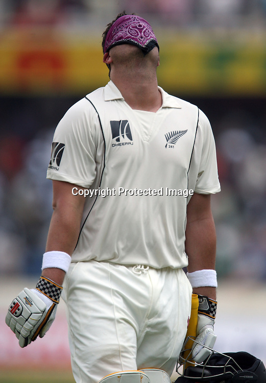 New Zealand Batsman Jesse Ryder Go Back Pavilion During The 2nd Test Match India vs New Zealand Played at Rajiv Gandhi International Stadium, Uppal, Hyderabad 13, November 2010 (5-day match)