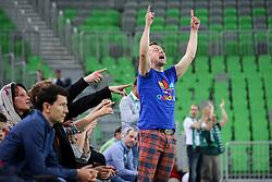 Raper Zlatko celebrates during basketball match between KK Union Olimpija and KK Tajfun in Quarterfinals of 3rd Nova KBM Slovenian Champions League 2015/16, on May 17, 2016, in Arena Stozice, Ljubljana, Slovenia. Photo by Matic Klansek Velej / Sportida