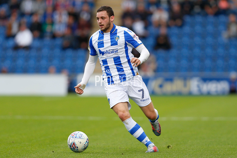 Colchester United's Drey Wright(7) Colchester United and Carlisle United at the Weston Homes Community Stadium, Colchester, England on 14 October 2017. Photo by Phil Chaplin