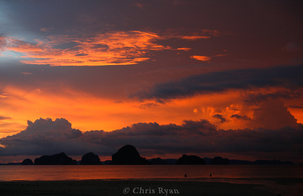 Hongs at sunset, Phang Nga Bay/Andaman Sea, Thailand.