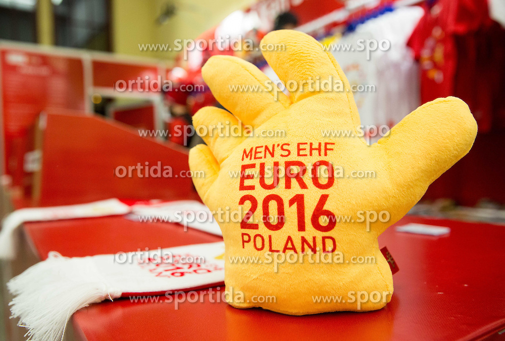 Fan's shop on Day 4 in Preliminary Round of Men's EHF EURO 2016, on January 18, 2016 in Centennial Hall, Wroclaw, Poland. Photo by Vid Ponikvar / Sportida