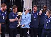 World Cricket Champions England are welcomed to Downing Street by Theresa May