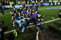 Sheffield Wednesday celebrate progressing to Wembley - Mandatory by-line: Jason Brown/JMP - 16/05/2016 - FOOTBALL - Amex Stadium - Brighton, England - Brighton and Hove Albion v Sheffield Wednesday - Sky Bet Championship Play-off Semi-final second leg