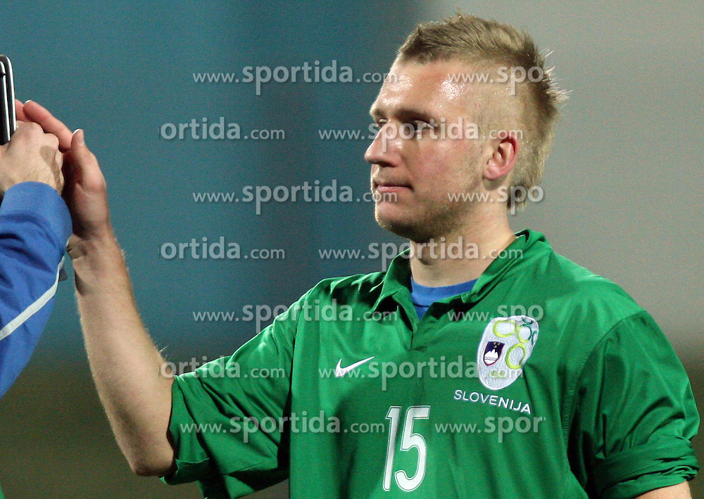 Klemen Medved (15)  of Slovenia after Friendly match between U-21 National teams of Slovenia and Romania, on February 11, 2009, in Nova Gorica, Slovenia. (Photo by Vid Ponikvar / Sportida)