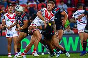 Tariq Sims. Auckland Warriors v St George Dragons. NRL Rugby League.Magic Round 2019 Suncorp Stadium, Brisbane, New Zealand. May 11, 2019. © Copyright photo: Patrick Hamilton / www.photosport.nz