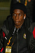 Hamari Traore (27) of Rennes arriving ahead of the Europa League match between Celtic and Rennes at Celtic Park, Glasgow, Scotland on 28 November 2019.