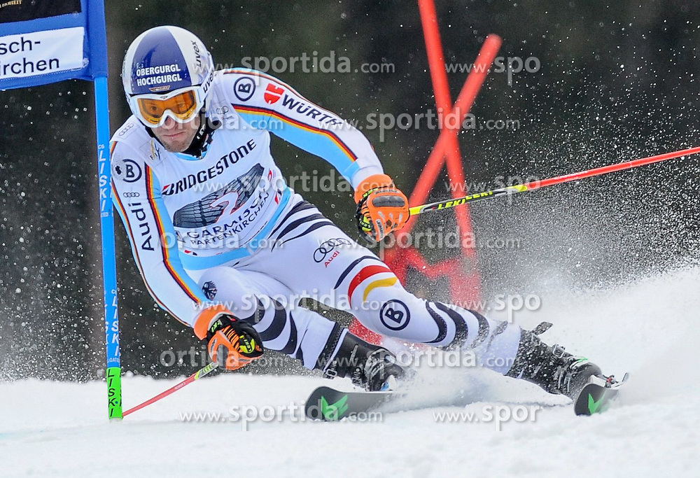 01.03.2015, Kandahar, Garmisch Partenkirchen, GER, FIS Weltcup Ski Alpin, Garmisch Partenkirchen, Riesenslalom, Herren, 1. Lauf, im Bild Fritz Dopfer (GER) // Fritz Dopfer of Germany in action during 1st run for the men's Giant Slalom of the FIS Ski Alpine World Cup at the Kandahar in Garmisch Partenkirchen, Germany on 2015/03/01. EXPA Pictures © 2015, PhotoCredit: EXPA/ Erich Spiess