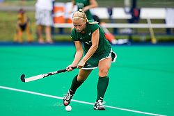 August 29, 2008 - CHARLOTTESVILLE, VA -  William and Mary Tribe defender Maura Checchio (17) in action against UVA.  The Virginia Cavaliers field hockey team defeated the William and Mary Tribe 5-0 on the University Hall Turf Field on the Grounds of the University of Virginia in Charlottesville, VA.
