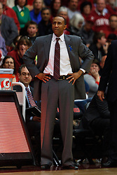 Feb 19, 2012; Stanford CA, USA; Stanford Cardinal head coach Johnny Dawkins on the sidelines against the Oregon Ducks during the second half at Maples Pavilion. Oregon defeated Stanford 68-64. Mandatory Credit: Jason O. Watson-US PRESSWIRE