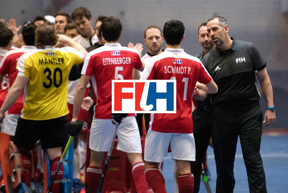 BERLIN - Indoor Hockey World Cup<br /> Austria - Belgium<br /> foto: Line Up<br /> WORLDSPORTPICS COPYRIGHT FRANK UIJLENBROEK