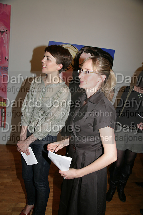 Frith Kerr and Amelia Noble , Stella Vine paintings. Modern art Oxford. 17 July 2007.  -DO NOT ARCHIVE-© Copyright Photograph by Dafydd Jones. 248 Clapham Rd. London SW9 0PZ. Tel 0207 820 0771. www.dafjones.com.
