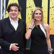 NLD/Amsterdam/20140508 - Wereldpremiere Musical Anne, Jessica Durlacher en partnerLeon de Winter