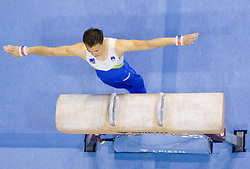 Saso Bertoncelj of Slovenia competes in the Pommel Horse during Final day 1 of Artistic Gymnastics World Cup Ljubljana, on April 27, 2013, in Hala Tivoli, Ljubljana, Slovenia. (Photo By Vid Ponikvar / Sportida.com)