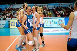 20-08-2009 VOLLEYBAL: WGP FINALS DUITSLAND - NEDERLAND: TOKYO<br /> Nederland wint ook de tweede wedstrijd. Ditmaal werd Duitelsnad met 3-2 verslagen / Francien Huurman, Janneke van Tienen, Chaine Staelens en Alice Blom<br /> ©2009-WWW.FOTOHOOGENDOORN.NL