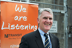 Kevin Corbett, Exec. Dir. of NJ Transit, at the  Atlantic City Rail Line platform, in Lindenwold, NJ, on August 20, 2018. The scheduled installation of PCT will temporary interrupt ACRL service till the end of December. (Bastiaan Slabbers for WHYY)