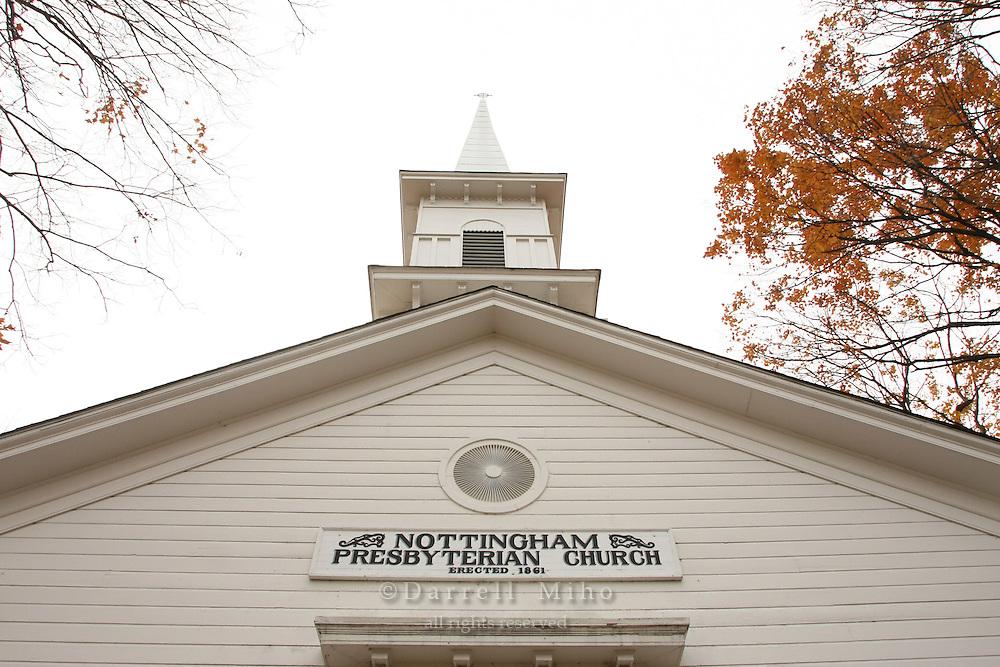 Nov. 02, 2008; Nottingham, OH - Nottingham Presbyterian Church built in 1861..Photo credit: Darrell Miho