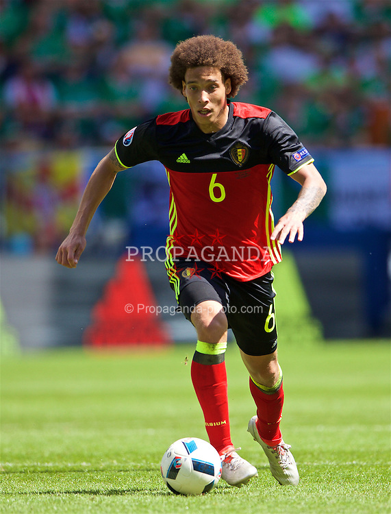 BORDEAUX, FRANCE - Saturday, June 18, 2016: Belgium's Axel Witsel in action against the Republic of Ireland during the UEFA Euro 2016 Championship Group E match at Stade de Bordeaux. (Pic by Paul Greenwood/Propaganda)
